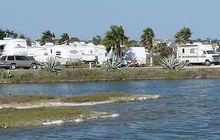Sea Breeze RV Park offers over 140 sites, several with Bay-front views.