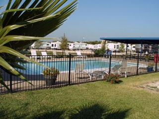 New swimming pool at the Texan RV Ranch