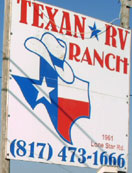 Look for the Texan RV Ranch sign near the entrance just off of Hwy 287