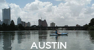 Austin, the Texas state capital, home to the Highland Lakes, SXSW, and funkyness