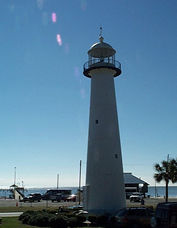 The first metal cast iron lighthouse in the South, which survived Hurricane Katrina