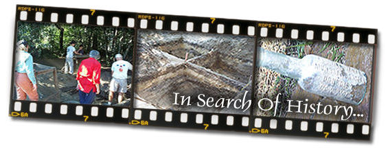 Volunteer archeology dig in Biloxi