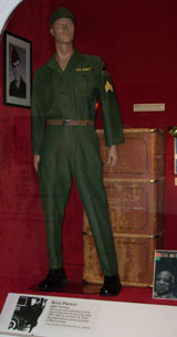 Elivs Presley's Army uniform at the Pink Palace Museum