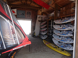 The WorldWinds Windsurfing store stocks a wide range of the latest surfing equipment.