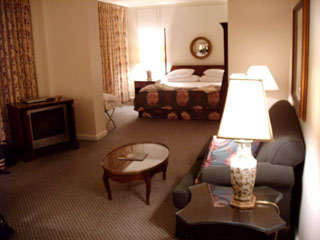 View of our guest room, the oversize rooms average 550 square feet a the Adolphus