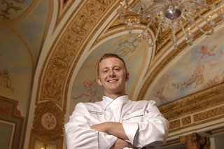 Jason Weaver of the elegant French Room restauraunt in Dallas, where culinary dishes are served up to match the palatial surroundings