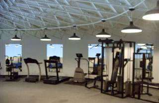 Upstairs fitness area of the KOA