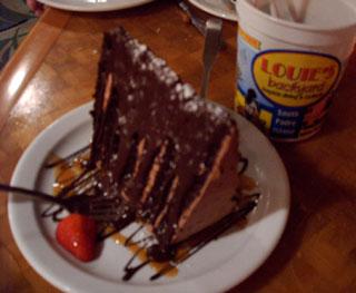 Six layers of triple chocolate...