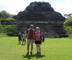 Guided tour, exploring the Mayan mysteries at Xunantunich in Belize