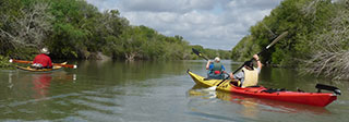 Kayaking on the Nueces River