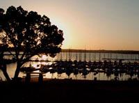 beautiful sunset at Canyon Lake