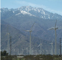A variety of windmills at different heights are used to best utilize the wind current