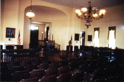 The old courtroom