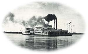 The Vicksburg, delivering the mail.