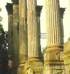 The magnificent columns of Windsor
