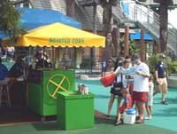 Food concessions at Schlitterbahn Waterpark,New Braunfels,Texas
