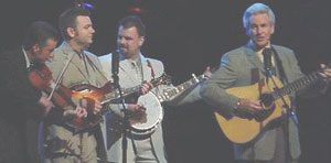 Del McCroury at right and Band