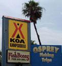 KOA at South Padre Island right on the bay