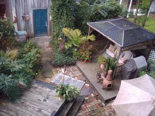 The garden area and patio