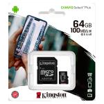 Memoria MicroSD Kingston  64 GB Clase 10