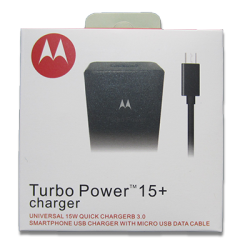 cargador Motorola TURBO POWER 15+