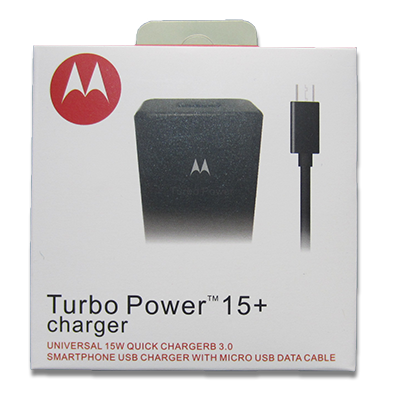 cargador Motorola  TURBO POWER 15+