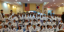 US Tae Kwon Do College students group photo.