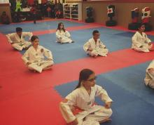 Young US Tae Kwon Do College students.