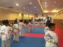 US Tae Kwon Do College students practicing.
