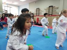 Young US Tae Kwon Do College students in action.